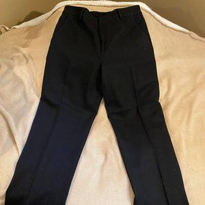 Lauren by Ralph Lauren Black Wool Suit Pants